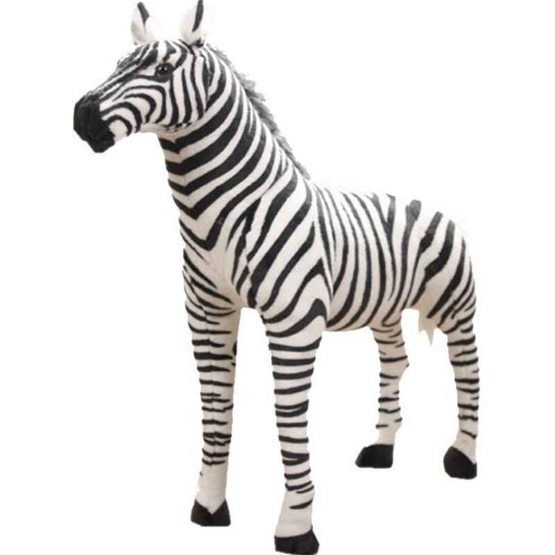 Standing Zebra Stuffed Animals Plush Toy Kids Toys Simulation Zebra Doll Photography Props Christmas Birthday Gifts