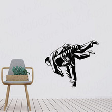 Judo wrestling against martial arts sports vinyl wall stickers youth dormitory bedroom decoration wallpaper mural PW392 vinyl wall stickers formula one racing sports car enthusiasts youth room shool dormitory home decoration wall decal 2ce15