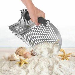 Detector de Metales pequeños de acero inoxidable con pala de arena detectora de excavación subacuática para la playa herramienta de caza