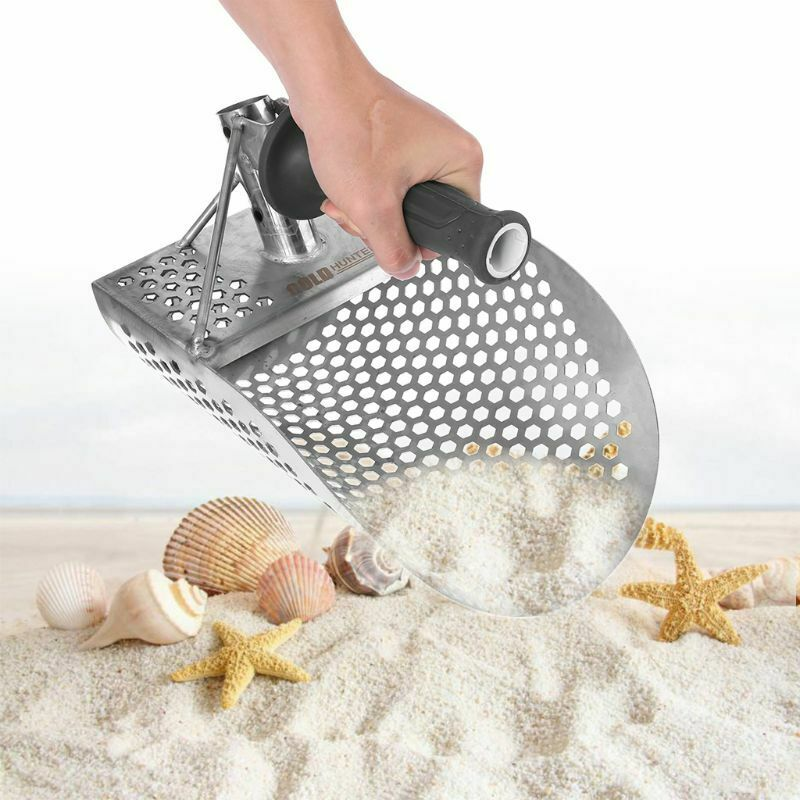 Stainless Steel Sand Scoop Small Metal Detector Detecting Underwater Beach Digging Shovel Hunting Tool