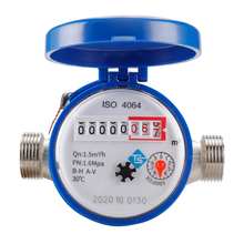 Practical Water Meter Mechanical Rotary Wing Digital Display Combination Pointer Cold Water Meter Home Measuring Tools