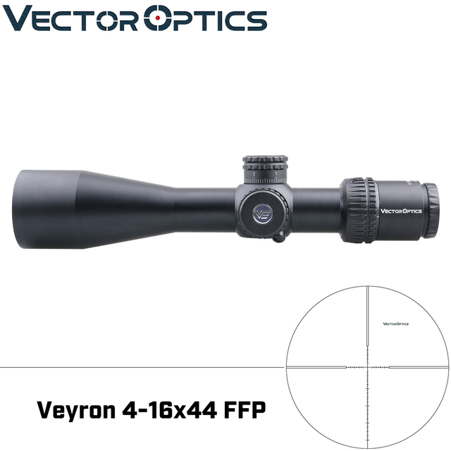 Vector Optics Veyron 4 16x44 Air Zielfernrohr FFP Zielfernrohr Ultra Kurze Kompakte 1/10 MIL .22 .25LR Auch Passt Kurze Schusswaffen