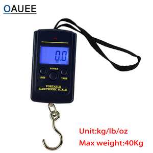 Oauee 40kg x 10g Mini Digital Scale For Fishing Luggage Travel Weighting Steelyard Portable Electronic Hanging Hook Scale