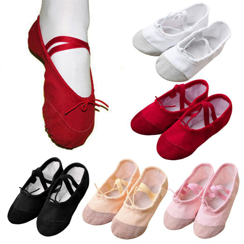 Girls Kids Pointe Shoes Dance Slippers Teacher Ballet Shoes Kids For Girl Ballerina Practice Shoes For Ballet Soulier Bebe Fille