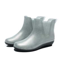 Flash water-proof mid-barrel waterproof adult slip-proof cute overshoes rubber shoes Martin rainboots
