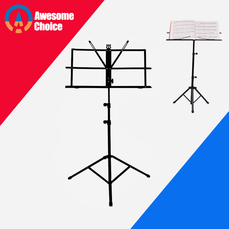 Quality Music Sheet Tripod Stand Stainless Steel Music Stand Holder Height Adjustable With Carry Bag For Musical Instrument