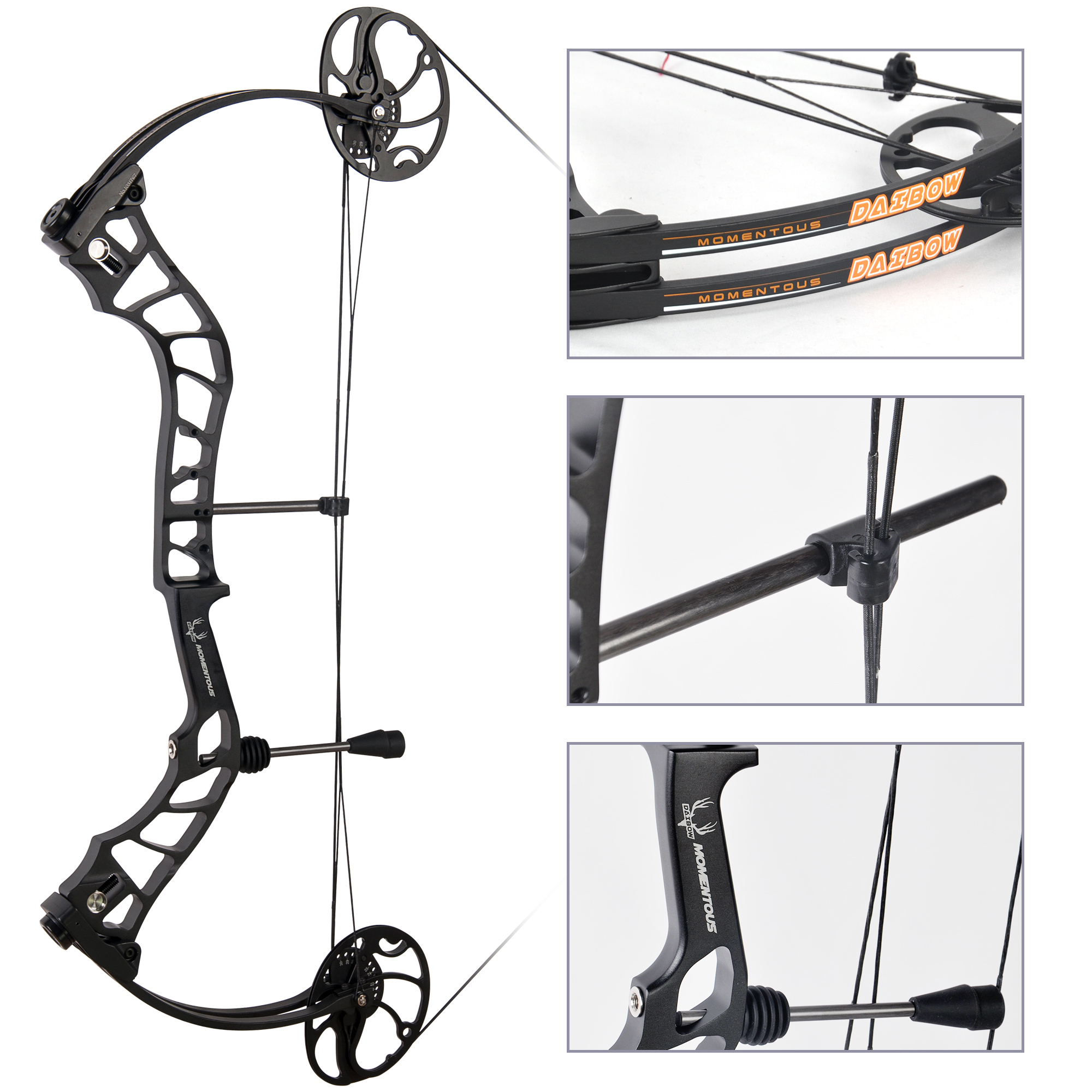 Adjustable Compound Bow Full Package, USA Gordon Composites Limb Archery 3