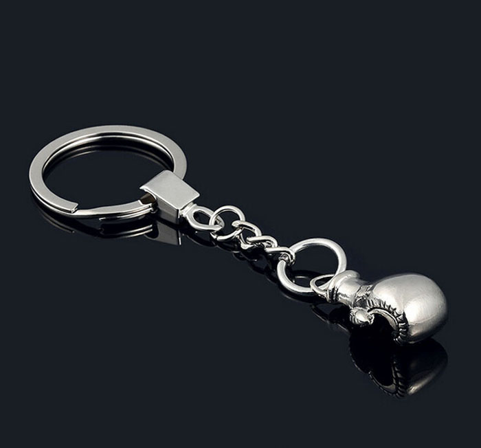 New Design Boxing Glove Key Chain -Hot Cool Metal Barbell Keychain Sports Car Key Ring Bag Pendant Key Holder Best Gift Jewelry