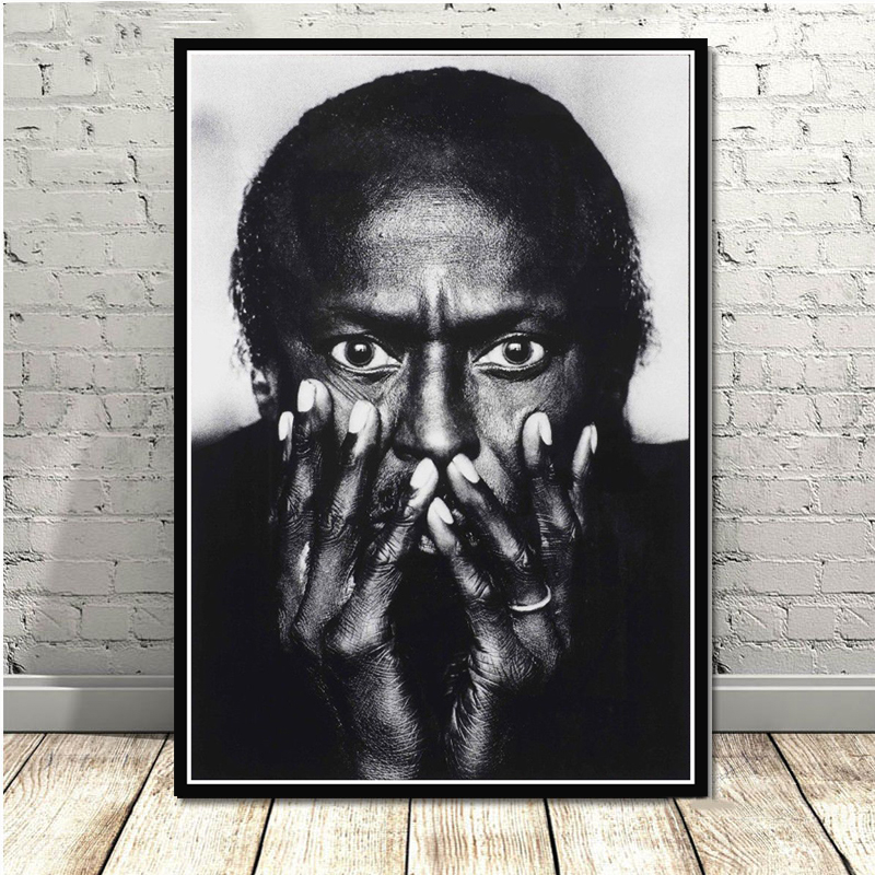 Miles Davis Blue Jazz Music Album Star Poster Prints Wall Art Oil Painting Canvas Wall Pictures For Living Home Decor картины image