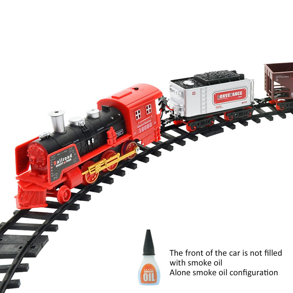 New Hot Remote Control Conveyance Car Electric Steam Smoke RC Train Set Model Toy Gift Toy Railroad Antistress Funny Gadgets