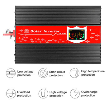 1000W Power Inverter Auto Transformator Dual Digital Display KFZ Wechselrichter LED-Display Anti-Reverse-Schutz 2USB image