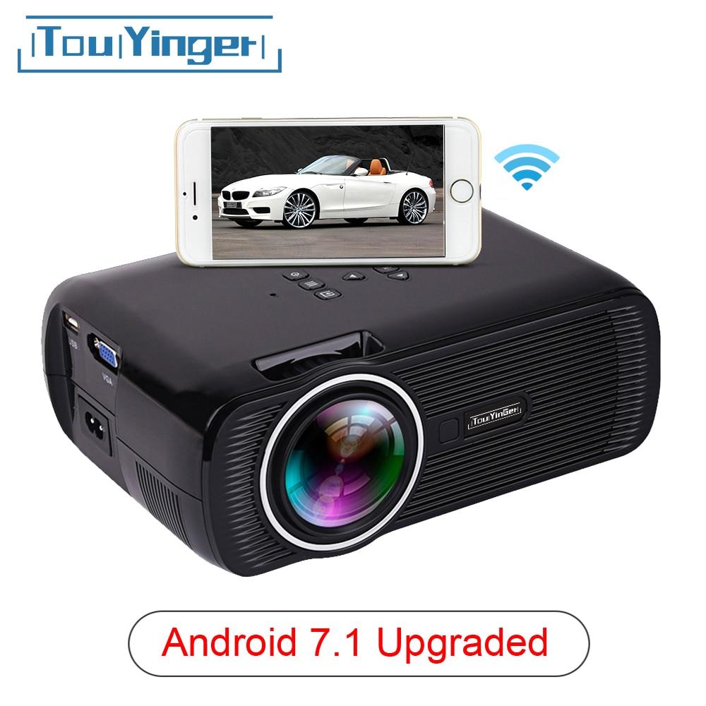 Touyinger X7 мини USB проектор android Wifi светодиодный проектор full hd видео портативный домашний кинотеатр Карманный ТВ кинотеатр видео