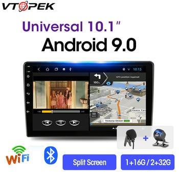 цена на Vtopek 2 Din Android Car Stereo 2G+32G 9/10.1 Car Radio Multimedia Video Player Navigation GPS For Nissan Kia Honda VW 2din Dvd