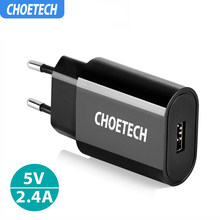 CHOETECH Travel USB Charger 12W Mobile Phone Wall Charger Adapter For iPhone XS XR Charging For Huawi Xiaomi mi 8 For Samsung S9(China)