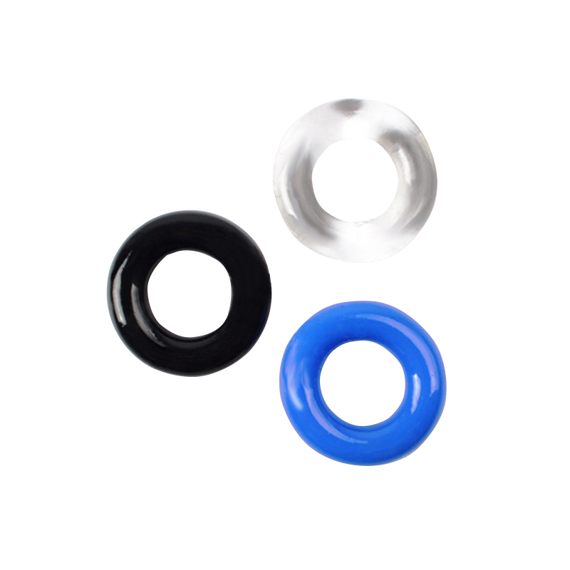 3pcs Silicone Cock Rings Delay Ejaculation <font><b>Penis</b></font> Rings <font><b>Adult</b></font> <font><b>Toys</b></font> Erotic <font><b>Toy</b></font> <font><b>Sex</b></font> <font><b>Toys</b></font> for Men Dropshipping image