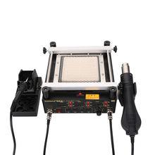 3 in 1 soldering iron hot air gun preheating station bga heating