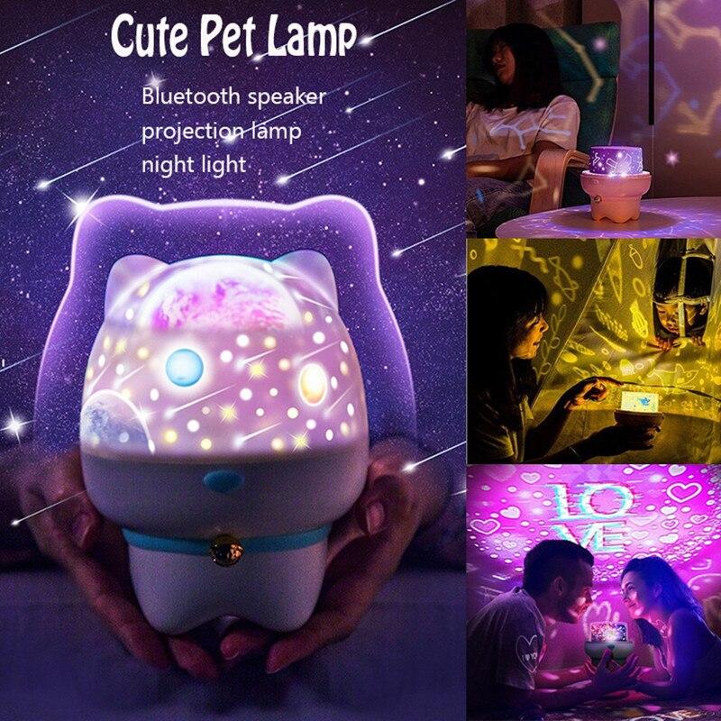 6 Patterns Children 39 s Sleep sensing Night Light USB Bluetooth Speaker Starry Ocean Spin Turn Remote Control Projector Light in LED Night Lights from Lights amp Lighting