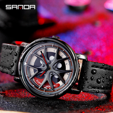 Car Wheel Watch Men Personality 360 Degree Rotating Watches Waterproof Quartz Wristwatch SANDA Top Brand Luxury tourbillon reloj