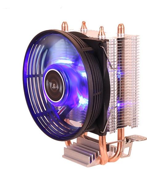 Efficient Cooling CPU Cooler Fan 3pin For Intel LGA 1150 1151 1155 1156 775 1200 AMD AM3 AM4 Quiet Ventilador Silent Radiator 5