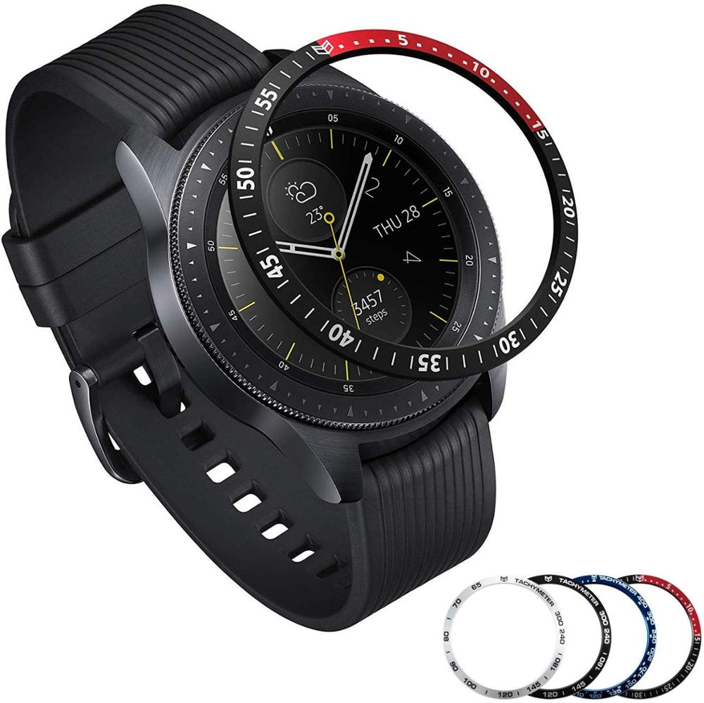 For Samsung Galaxy Watches Bezel Rings Adhesive Cover 46mm /& 42mm Scratch Proof