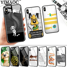 лучшая цена Cute cartoon dog special Glass Phone Case for Apple iPhone 11 Pro XR X XS Max 6 6S 7 8 Plus 5 5S SE