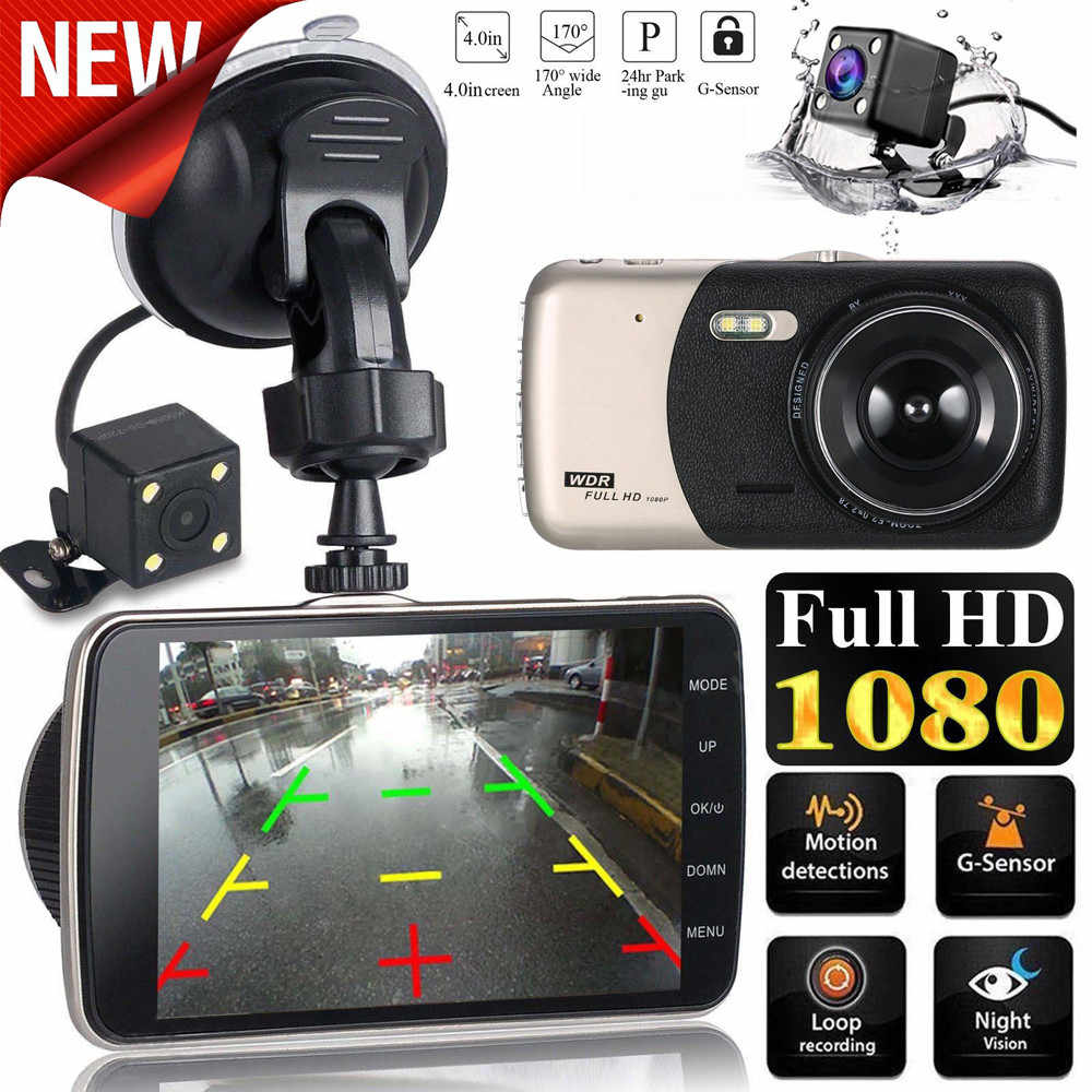 2019 New Arival Hot 4 LCD IPS Dual Lens Car Dash Cam FHD 1080P Dashboard Camera 170 Driving DVR Cars