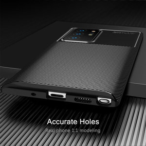 Image 3 - For Samsung Galaxy Note 20 Ultra Case Carbon Fiber Cover Soft TPU Silicon Phone Case For Samsung Galaxy Note20 A40 A21S A50 A30