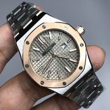 Luxury Brandladies rose gold and silver quartz watch 33mm size Luminous top quality stainless steel royal oaks women watches AAA