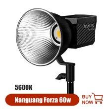 Nanguang Nanlite Forza 60 Chụp Ảnh Đèn 60 W Ánh Sáng 5600K Ngoài Trời Monolight COB Ánh Sáng Đèn Flash Ánh Sáng Nhấp Nháy đèn