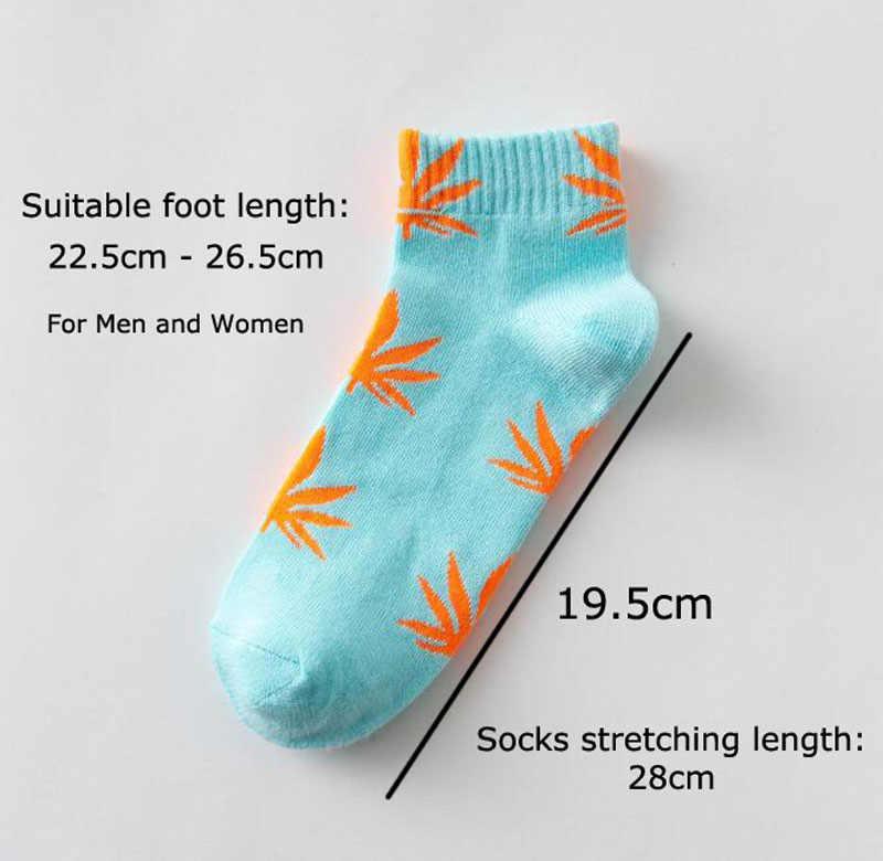 Весенне-осенние новые повседневные носки-башмачки для мужчин и женщин, модные удобные хлопковые носки высокого качества, 30 цветов, носки с листьями кленовых листьев