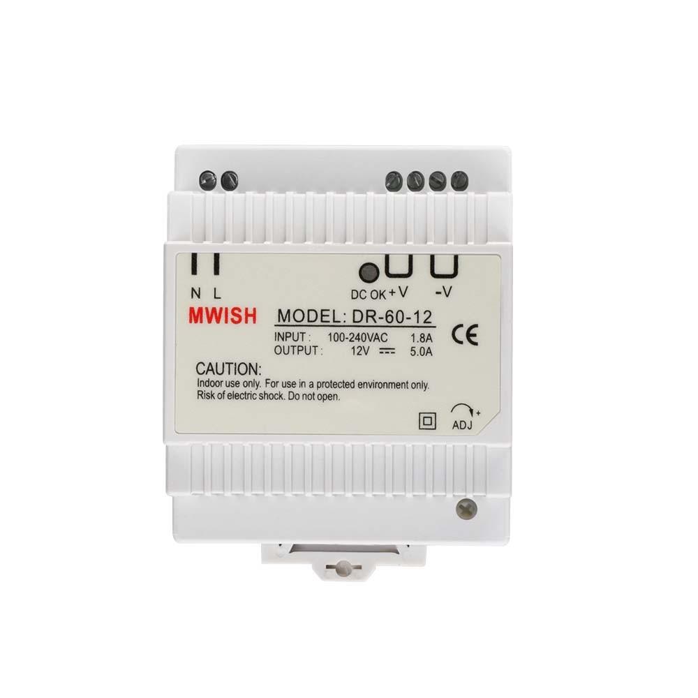 Din rail power supply 60w 12V ac dc converter dr-60-12 power supply 12v 60w good quality 2