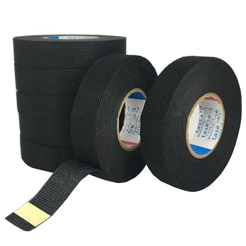 Car Harness Tape Car Vehicle Wiring Automotive Wiring Harness Cloth Tape 15m Car Universal Black Flannel Self Adhesive Felt Tape