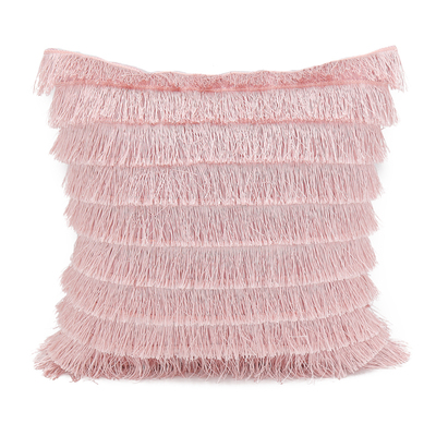 40CM New Pink Lovely Tassel Ball Plush Cushion Cushion Cover Pillow Square Beauty Sofa Bed Home Car Mat Wholesale FG1152-2
