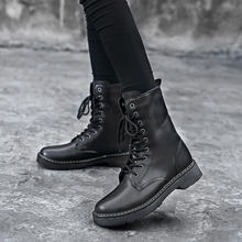 Martens Boot Genuine Leather Men's and women's Winter Ankle Boots Dr. Motorcycle