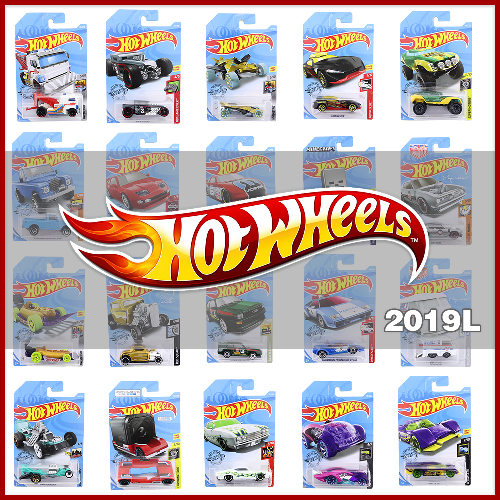 Hot Wheels 1:64 Car 2019 TESLA MAZDA JEEP FORD NISSAN HONDA LAND ROVER WRANGLER Vehicle Metal Diecast Model Kids Toys Gift