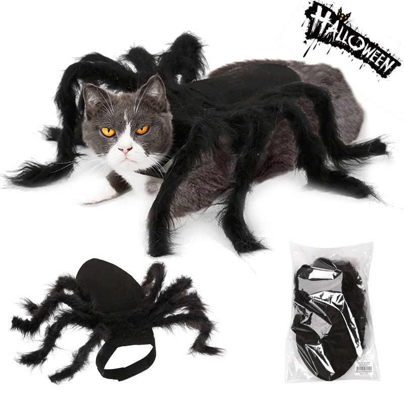 Креативный костюм паука кошки костюмы на Хеллоуин Косплей Одежда войлочная ткань черная собака 2019 щенка празднование