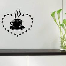 YOYOYU Vinyl Wall Decal Kitchen Cafe Hot Drinks Small Object Decoration Papel De Parede Para Quarto  Stickers 3513