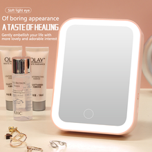LED Lights Makeup Mirror For bedroom Touch Screen Switch Cosmetic Mirror Bright Adjustable Battery Operated Home Beauty Tools