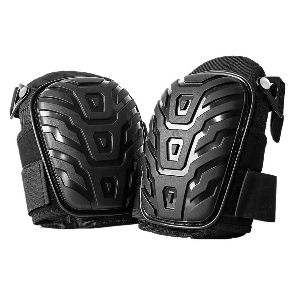 Professional Gel Cushion Shell Knee-Pads Adjustable-Straps Safe Work Heavy-Duty  title=