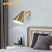 SANBUMG Led Light Modern wall lamp Adjustable 180 Degree Sconce Wall Lights E27 Head Wall Lamp Nordic For Living Room