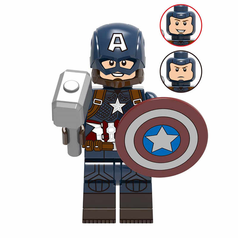 スーパーヒーローキャプテンアメリカアベンジャーズ Endgame ビルディングブロックアイアンマンハルクトールスパイダーマンと互換性 Legoreings 驚異
