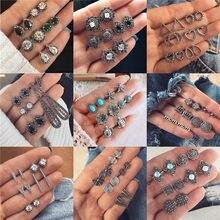 Luokey conjunto de brincos femininos, vintage, pequeno, stud, para mulheres e meninas, 2020 contas, pedra, brincos de flores, boêmio, joias étnicas, acessórios