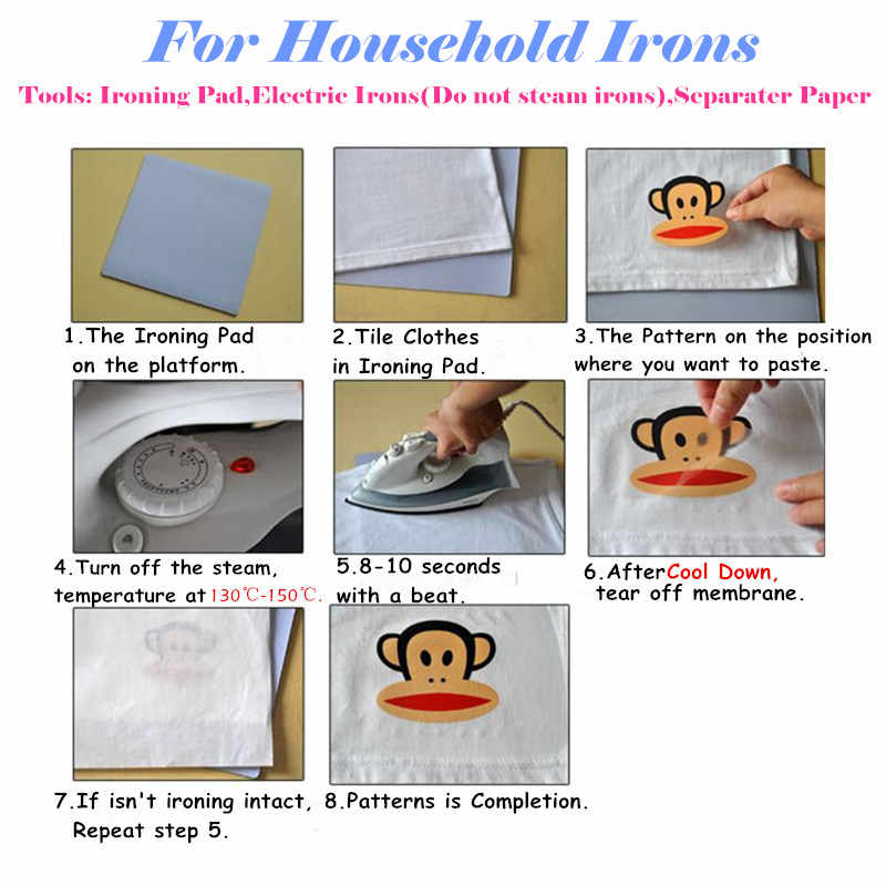 1PCS Leuke Cartoon Ariel Prinses Thermische Transfer Patch Ijzer Op Sticker DIY Kleding Accessoires Warmteoverdracht Applique