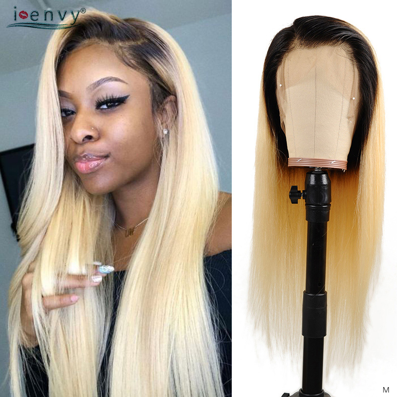 Blonde 613 Full Lace Wigs Human Hair Straight Peruvian Pre Pluck 150 Density Long Ombre 360 Full Lace Wigs For Black Women Remy image