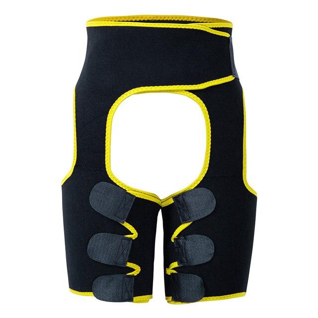 Women Low Waist Thigh Trimmer Neoprene Sweat Shapewear Slimming Leg 3 in 1 Waist Shapers Waist Trainer Workout Girdle Belt 4