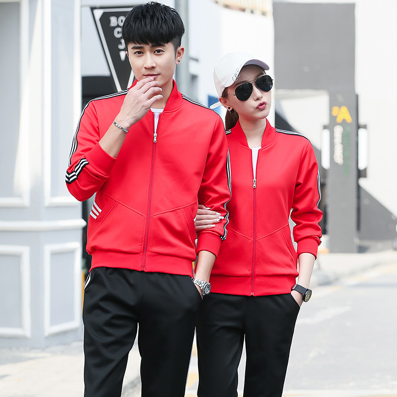 339 Sports Clothing Men And Women Couple Clothes Long Sleeve Sports Set-Style Sports Clothing Casual Jogging Suits Spring And Au