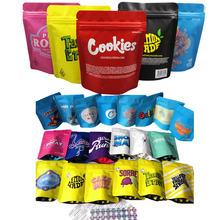 100 adet ot saklama çantası plastik şeker karışık desen saklama çuvalı tütün dumanı çanta özel LOGO sigara aksesuarları