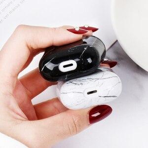 Image 4 - Чехол для Airpods, чехол с милым мраморным покрытием для Airpod 2 1, чехол s, аксессуары для наушников, защитный чехол для наушников, чехол для зарядного устройства