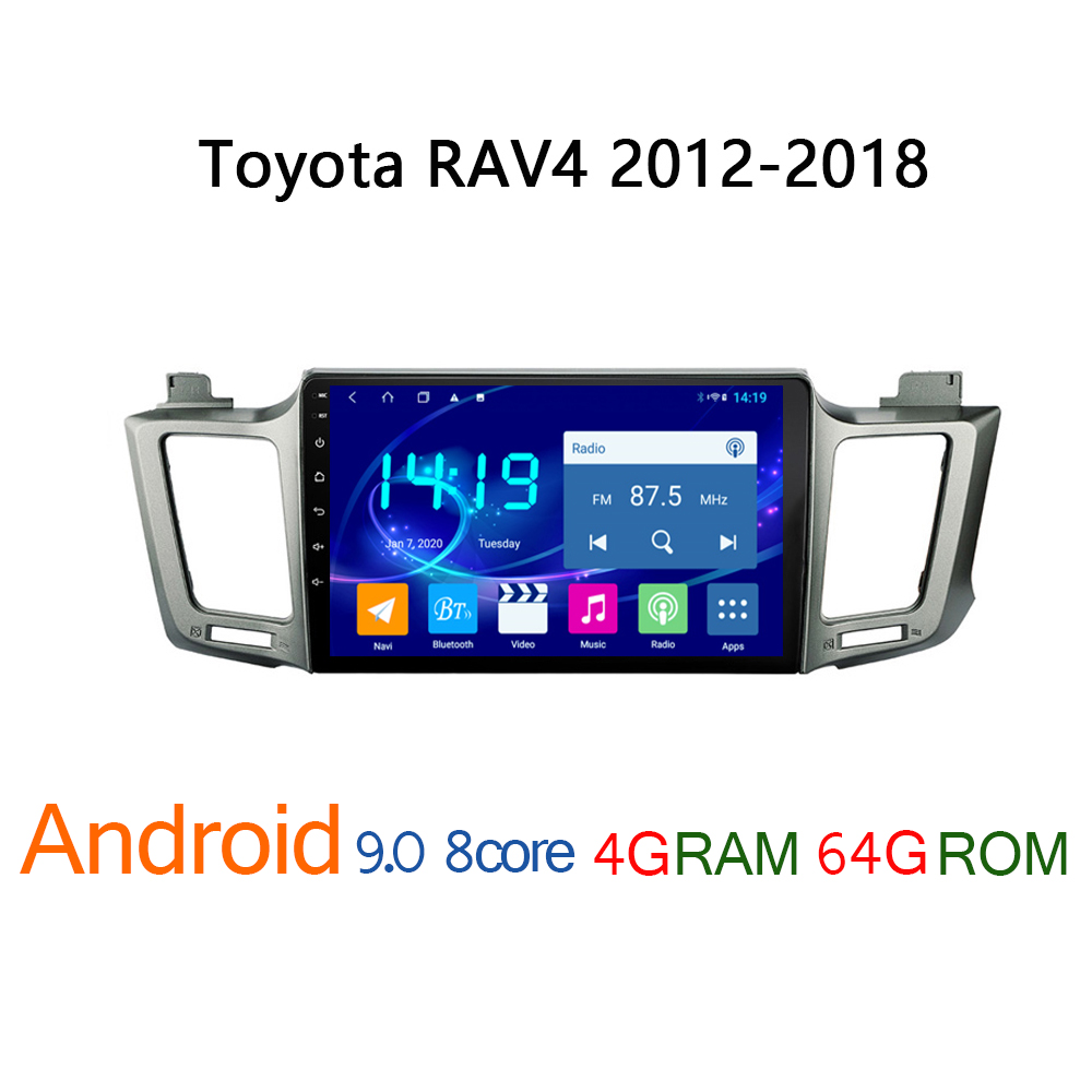 4G+64G car radio for <font><b>Toyota</b></font> <font><b>RAV4</b></font> 2012 2018 android DVD multimedia GPS navigation player <font><b>RAV</b></font> <font><b>4</b></font> coche audio auto stereo autoradio image