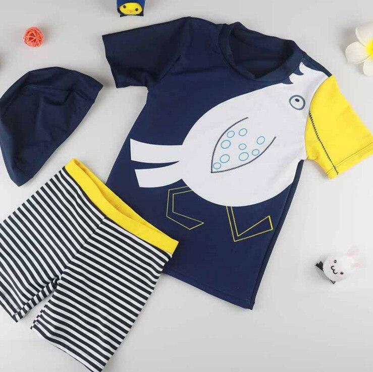 KID'S Swimwear Hot Springs Boy BOY'S Split Type Sun-resistant Quick-Dry Seaside Swimwear Big Boy South Korea Baby Swimming Trunk